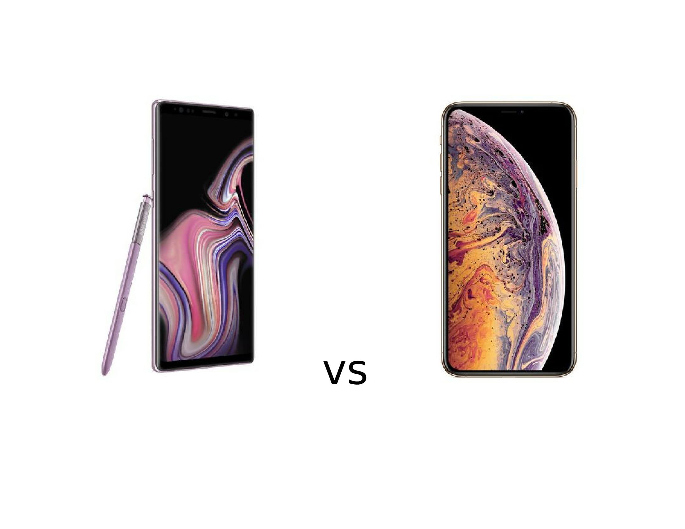 Samsung Galaxy Note 9 sau iPhone XS Max