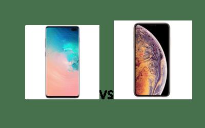 Samsung Galaxy S10 plus sau iPhone XS Max